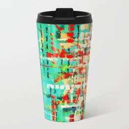 on my street -turquoise abstract Travel Mug