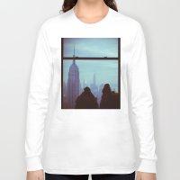 manhattan Long Sleeve T-shirts featuring Manhattan by Mt Zion Press