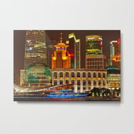 shanghai skyline architecture Metal Print