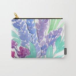 Lavender Floral Watercolor Bouquet Carry-All Pouch