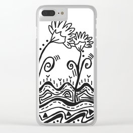 Three Spring Flowers Clear iPhone Case