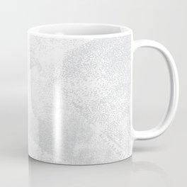 White and Gray Lino Print Texture Geometric Coffee Mug