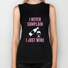 I Just Wine Biker Tank