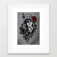 gypsy Framed Art Prints featuring gypsy by Erdogan Ulker