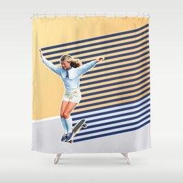 Skate Like a Girl 02 Shower Curtain