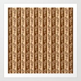 Retro floral striped pattern . Art Print