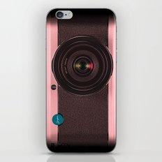 Vintage Camera III - Rosé Gold iPhone Skin