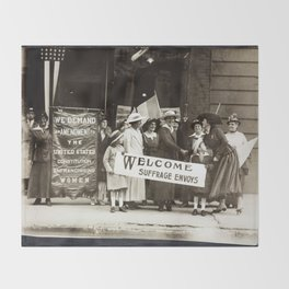 Suffrage Envoy Photograph (1915) Throw Blanket