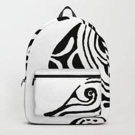 seahorse tatoo white Backpack