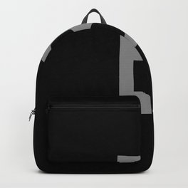 LETTER B (GREY-BLACK) Backpack
