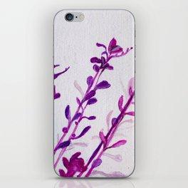 Pink Stems iPhone Skin