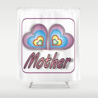 mother Shower Curtains featuring Mother by Mike van der Hoorn