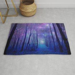 Fantasy Path Purple Blue Rug
