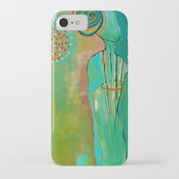 """flora bowley iPhone & iPod Cases featuring """"Wish Believe"""" Original Painting by Flora Bowley by Flora Bowley"""