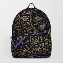 Floral Egyptian Ornament Lapis Lazuli and gold Backpack