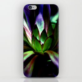Purple and Green Leaves iPhone Skin