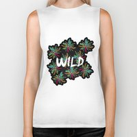 into the wild Biker Tanks featuring Wild by Camila Escat