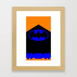 Caped Crusader Framed Art Print