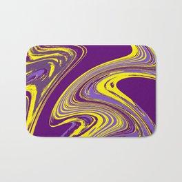Purple and Yellow Fluid Painting Bath Mat