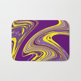 Purple and Yellow Fluid Painting Bath Mat