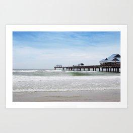 clearwater beach, fl Art Print