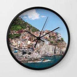 Cinque Terre   Italy City Travel Landscape Coastal Photography Wall Clock