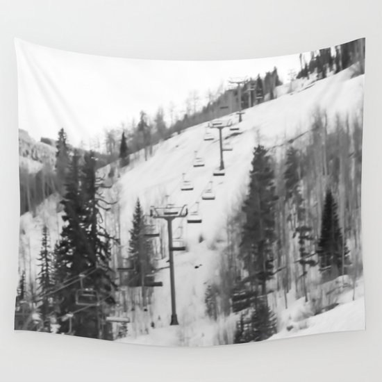 Chair lifts at vail colorado wall tapestry by eliane for Chair 4 cliffs vail