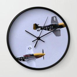 Mustang P51 Flight Wall Clock