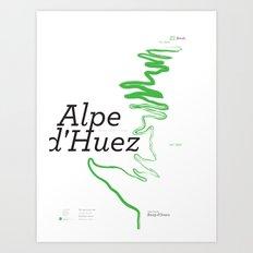 Famous Climbs: Alpe d'Huez 1, Modern Art Print