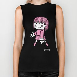 Girl Walking Biker Tank