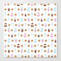 Milk and Cookies Pattern on White by mycutelobster