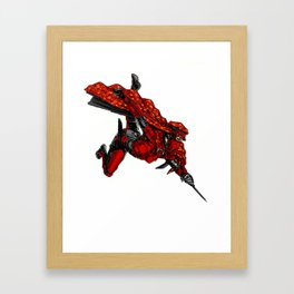Zauba flies Framed Art Print