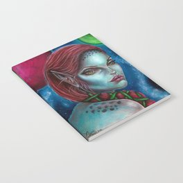 Apocolpyse Alien Girl Fantasy Art by Laurie Leigh Notebook