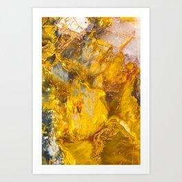 Fire Crystal - gemstones, photography #society6 Art Print