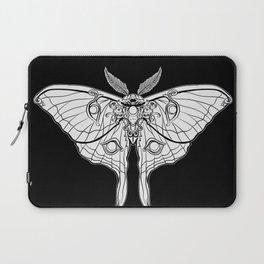 Art Nouveau Moth (black background) Laptop Sleeve