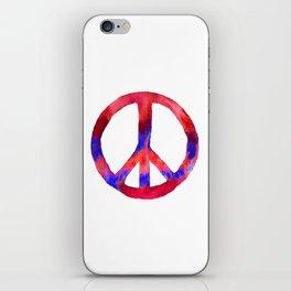 Patriotic Peace Sign Tie Dye Watercolor iPhone Skin