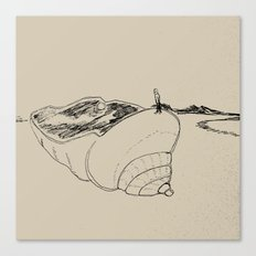 land of seashell Canvas Print
