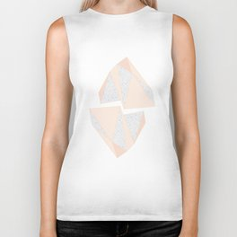 Abstract Iceberg Inspired with Terrazzo Patterns Biker Tank