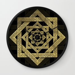 Golden Star of Lakshmi - Ashthalakshmi Wall Clock
