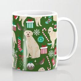 Golden Retriever festive christmas dog illustration pet portrait pet friendly gifts for dog breed Coffee Mug