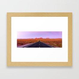 U.S. Highway 163 - Monument Valley, Utah Framed Art Print