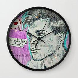 Purple Love Wall Clock