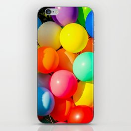 Colorful Toy Balloons iPhone Skin