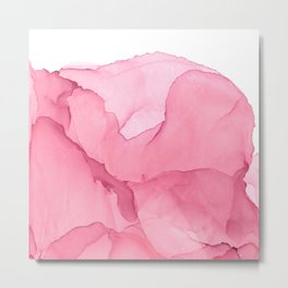 Pink abstract stain Metal Print