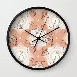 Thai Ridgeback Pattern in Light Terracotta Wall Clock