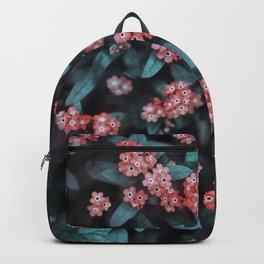 Berry-like Dark Floral Pattern Backpack