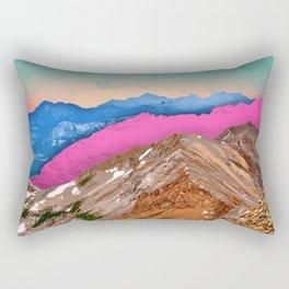 Color Band Mountains Rectangular Pillow