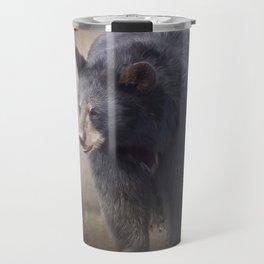Black Bear walking. Watercolor painting Travel Mug