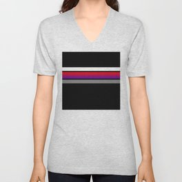 Team colors...red/purple ,gray and white stripe on black Unisex V-Neck