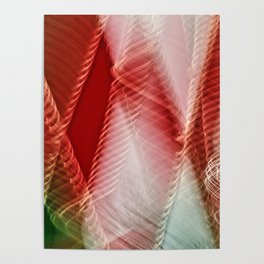Abstract Holiday Plaid Poster